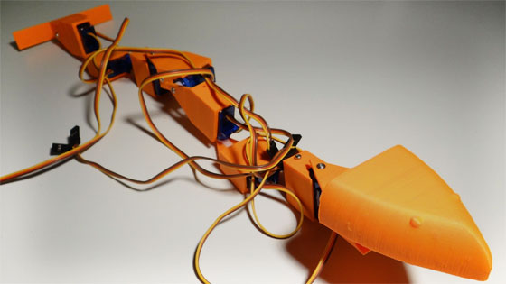 Cómo hacer un robot serpiente impreso en 3D