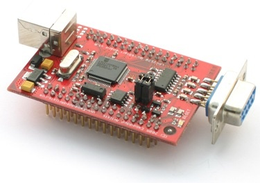 LPC2148 USB QuickStart Board con un ARM7 a 60Mhz