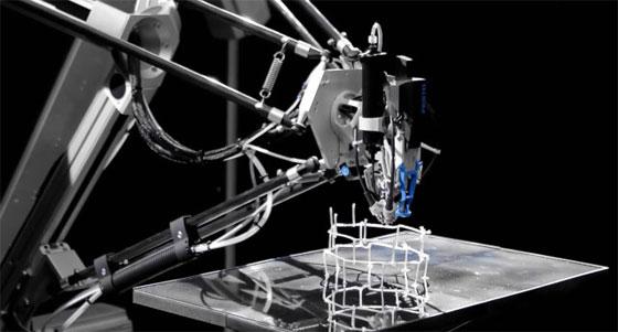 Festo 3D Cocooner: Robot que imprime estructuras con fibra de vídrio