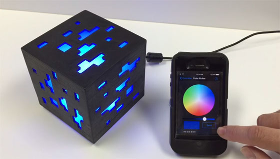 Cubo LED minecraft controlado por Bluetooth