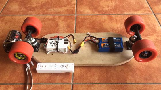 Skateboard eléctrico con Raspberry Pi