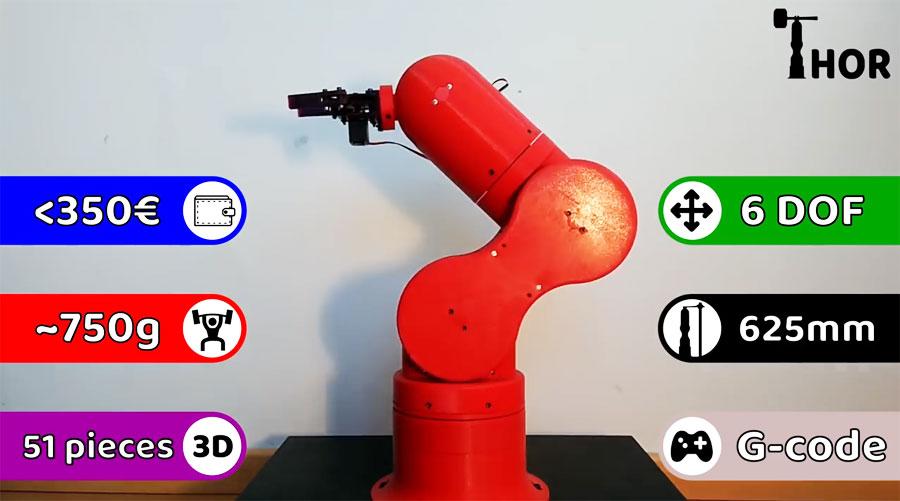 THOR: Un brazo robot Open Source imprimible