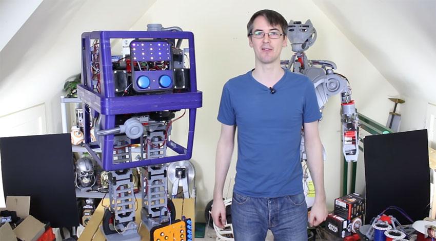 Robot GONK de Star Wars hecho por James Bruton