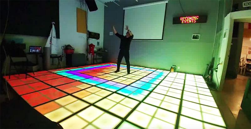Suelo de baile interactivo con 7680 diodos LED RGB