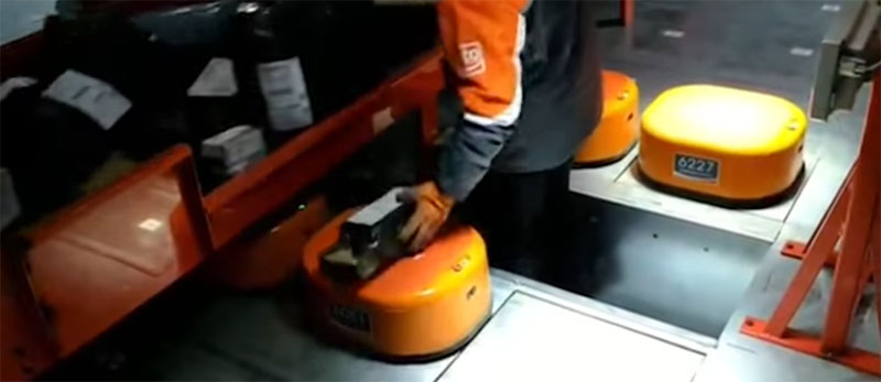 Sistema de clasificación de paquetes con robots