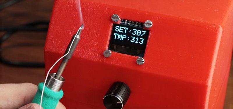 Estación de soldadura casera con control de temperatura digital