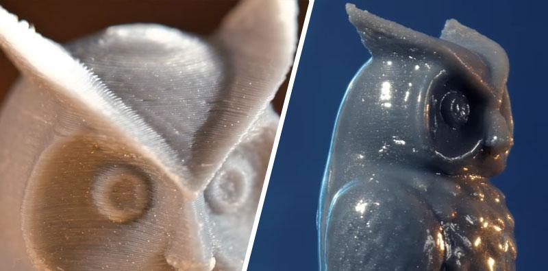 Cómo suavizar los objetos impresos en 3D