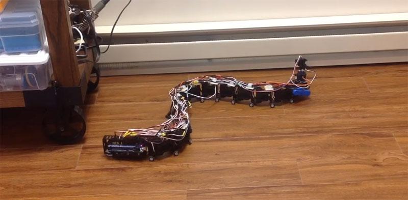 Robot serpiente reconfigurable y controlado con Arduino