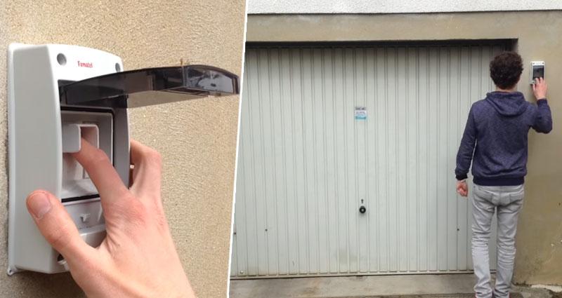 Control de acceso para garaje con huella dactilar