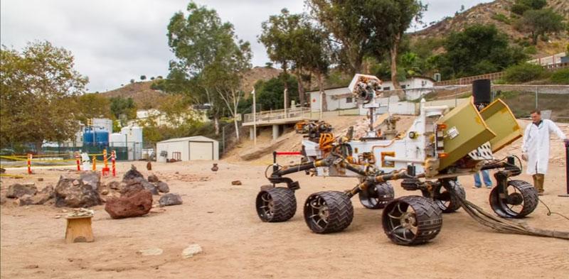 El terreno de pruebas de la NASA para el Mars Rover Curiosity