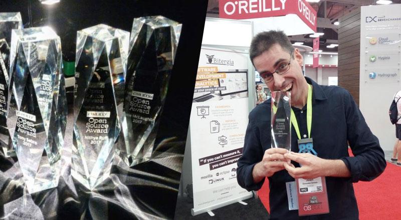 Juan Gonzalez - Obijuan - galardonado por O Reilly Open Source Award 2017