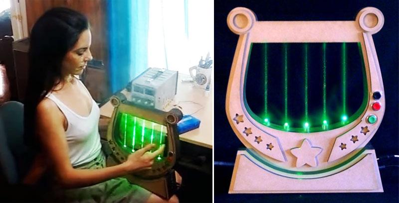 Arpa láser para jugar al Orpheus Quest