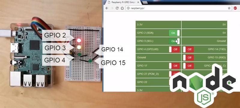 Servidor web para Raspberry Pi con NodeJS con control de GPIO