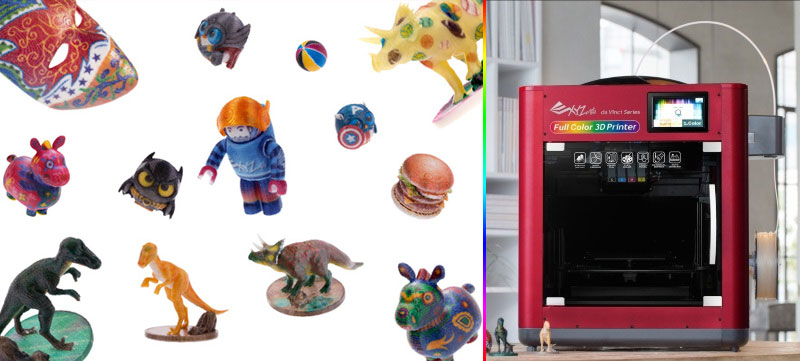 Impresora 3D da Vinci Color que imprime a todo color