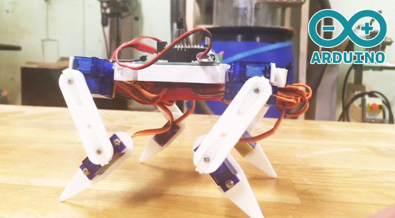 KITtyBot: Un robot cuadrúpedo hecho con Arduino