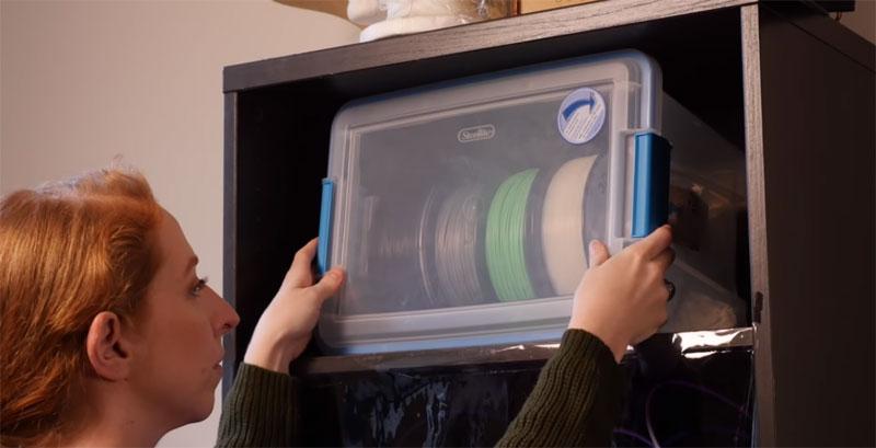 Cómo construir una caja para filamento PLA y evitar la humedad