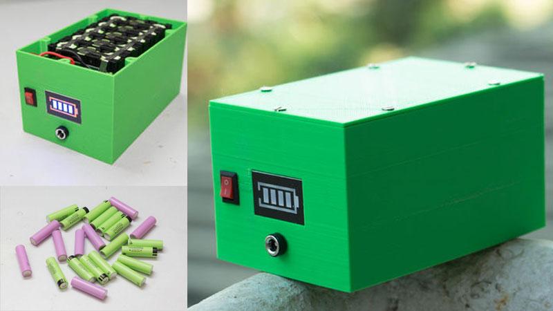 Cómo construir una batería casera con baterías 18650 y recarga solar