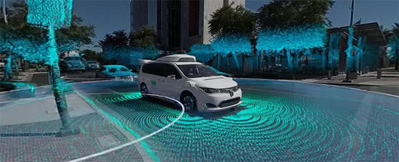 Un paseo en 360 grados dentro del coche autónomo Waymo