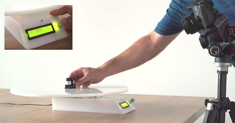 Plato giratorio para fotografía controlado con Arduino