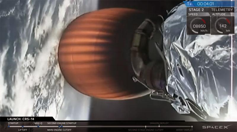 Lanzamiento de la misión CRS-14 de SpaceX