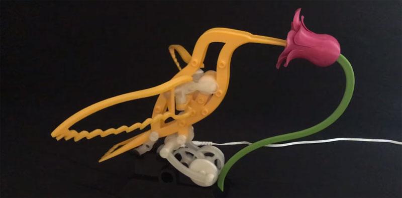 Monta tu Colibrí kinético animado impreso en 3D