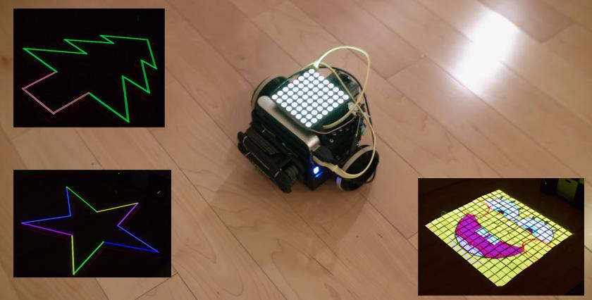 Light Painting usando una matriz de LED sobre un robot