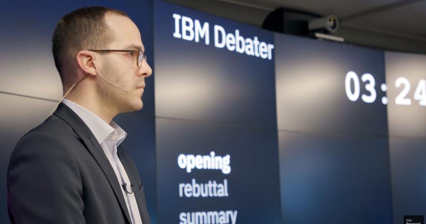 IBM Debater es una AI que puede participar en una conversación humana