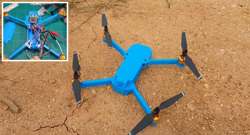 Quadcopter DJI Mavic casero impreso en 3D
