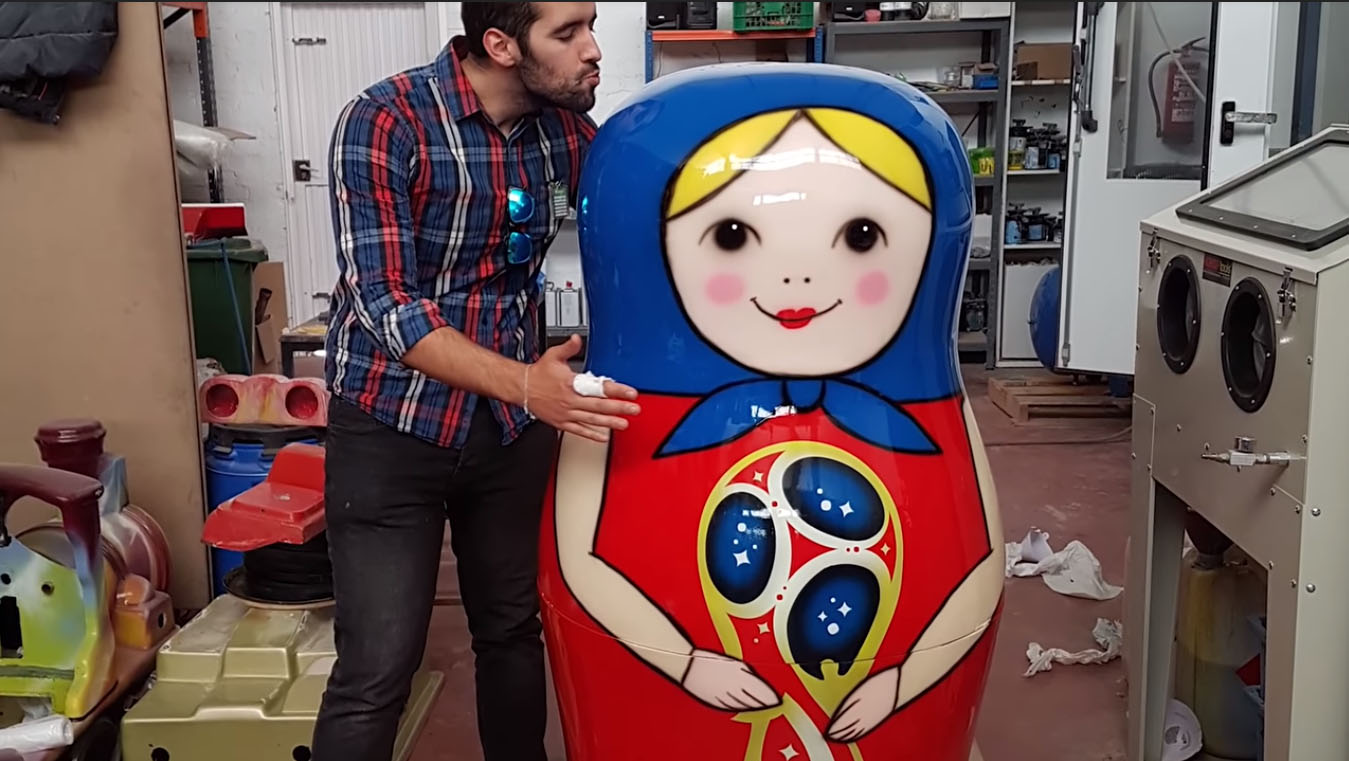 Imprimiendo en 3D Matryoshkas gigantes para Mediaset España