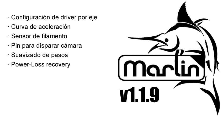 Nueva actualización de Marlin 1.1.9 con muchas novedades interesantes