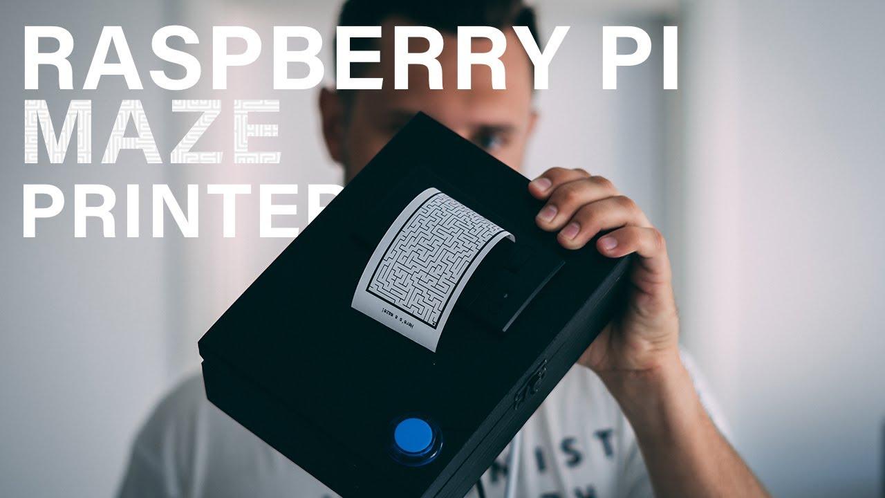 Cómo generar automáticamente un laberinto en papel impreso con Raspberry Pi
