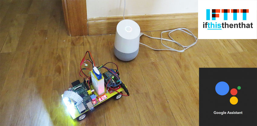 Cómo hacer un robot con Raspberry Pi controlado por voz con Google Home