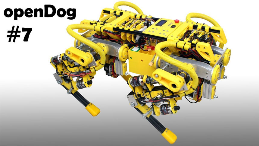 El robot OpenDog de James Bruton avanza a buen ritmo y es increíble
