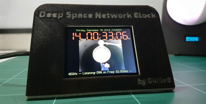 Reloj casero conectado al DSN de la NASA para escuchar al Rover Opportunity