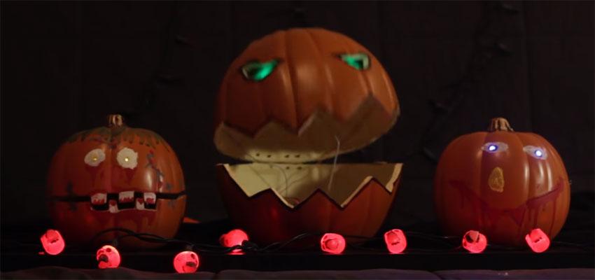Cómo hacer un animatronic con Calabazas para Halloween