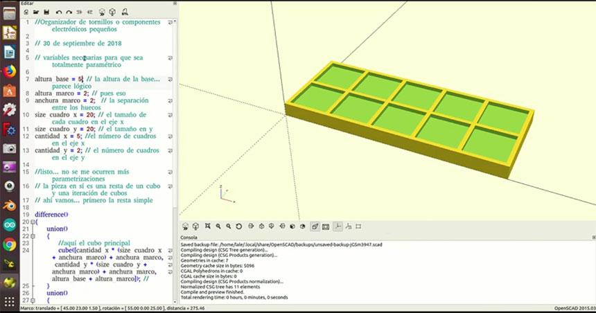 Cómo crear piezas paramétricas con OpenSCAD