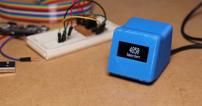 Sencillo contador de suscriptores de YouTube con ESP8266