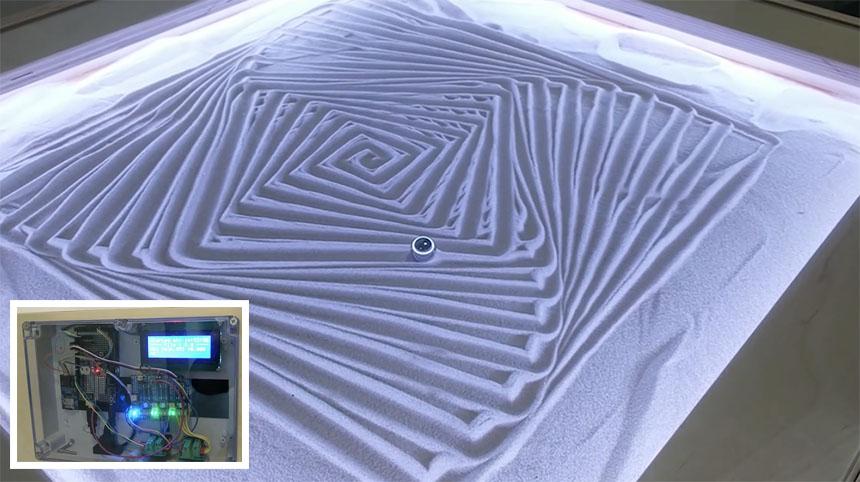 Mesa Zen de arena controlada con Arduino