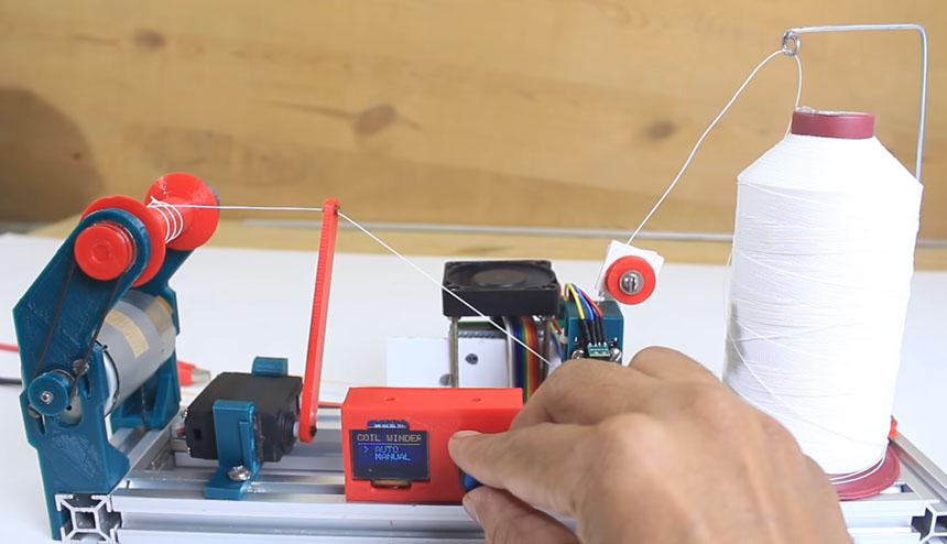 Cómo hacer una máquina bobinadora de hilo casera con Arduino