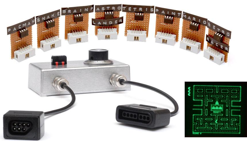 Una consola de juegos para tu osciloscopio