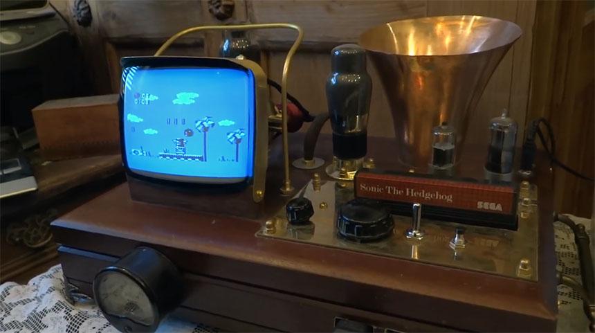 SEGA Master System II Steampunk