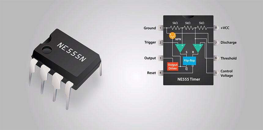 Cómo funciona el chip temporizador 555
