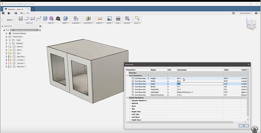 Diseño paramétrico con Fusion 360 para fabricación digital