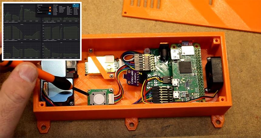 Monitor de calidad del aire con Raspberry Pi y Grafana