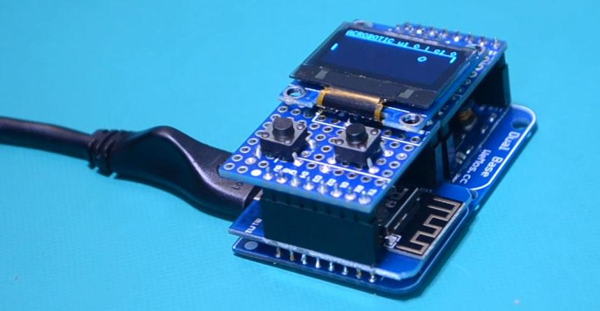 Cómo hace un mini juego arcade casero con ESP8266 y pantalla OLED