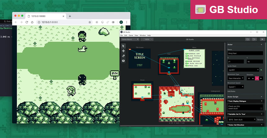 GB Studio: Un editor para crear tus propios juegos de Game Boy