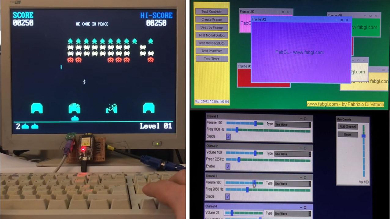 FabGL: Una librería gráfica VGA para ESP32