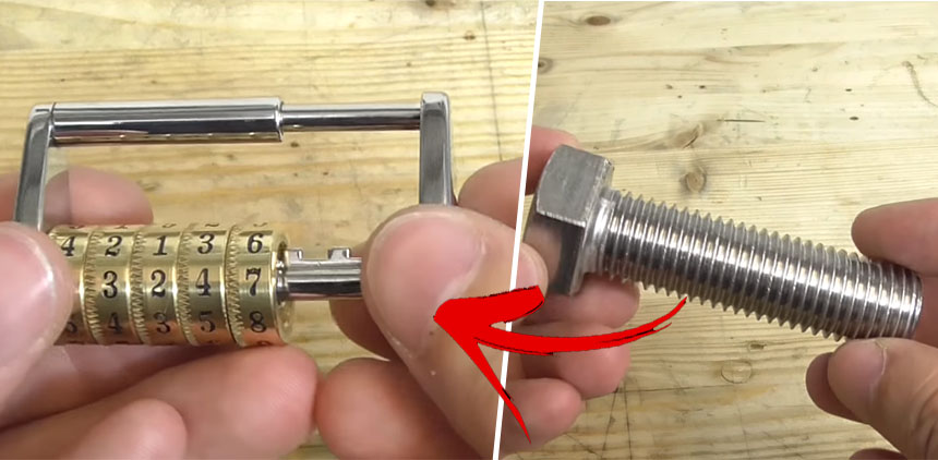 Cómo convertir un tornillo en un precioso candado de combinación