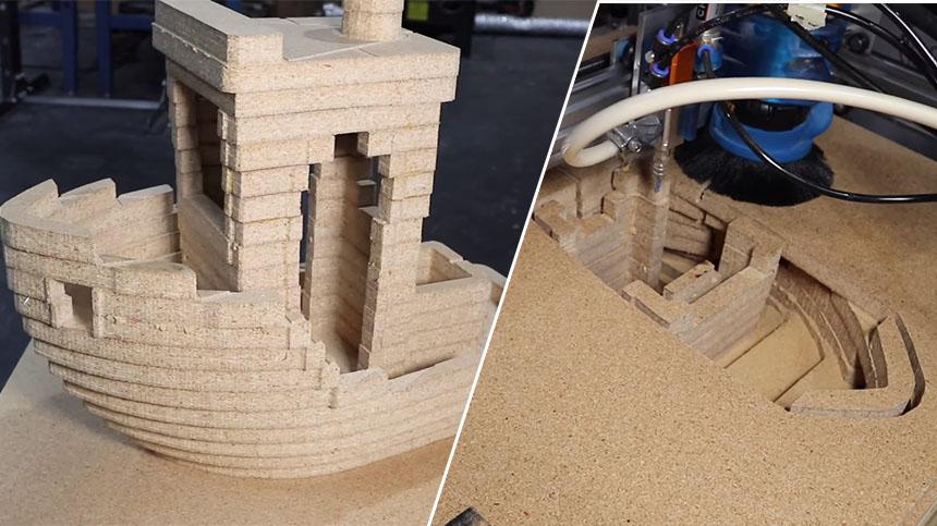 Una impresora 3D que funciona con tableros de madera contrachapada