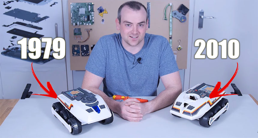 Comparativa de diseño mecánico y electrónico de juguetes de hoy y de hace 40 años